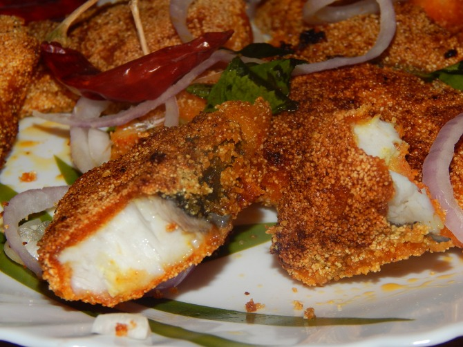 Mangalore rava fry king fish low oil usage savour for What is the best oil for frying fish